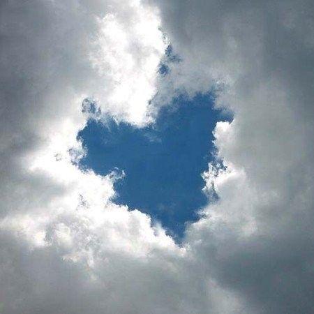 Сердце из облаков.